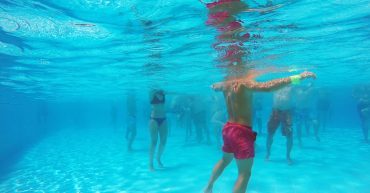 Water Exercise For Adults. aqua aerobics in the pool